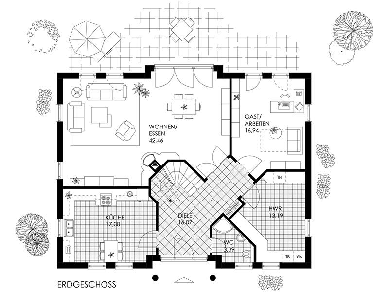 villa gk bauplanung georg kleinert gmbh in weyhe. Black Bedroom Furniture Sets. Home Design Ideas